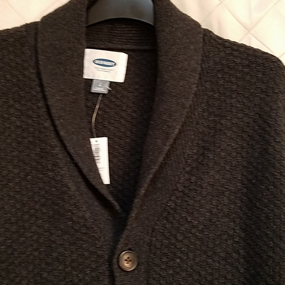 Old Navy Other - Old Navy men's dark grey cardigan size large NWT